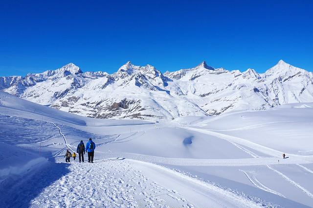 Walking to the Igloo Village, Zermatt, Switzerland