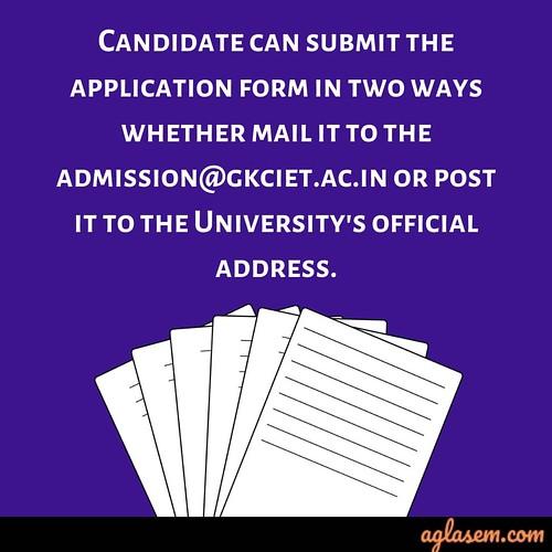 GKCIET Application Form 2019