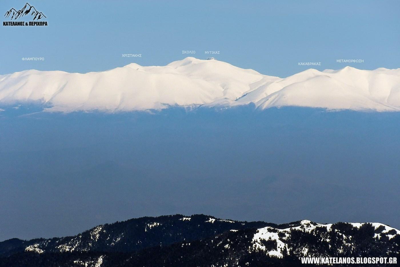 ολυμπος βουνο απο βελουχι νοτια πλευρα