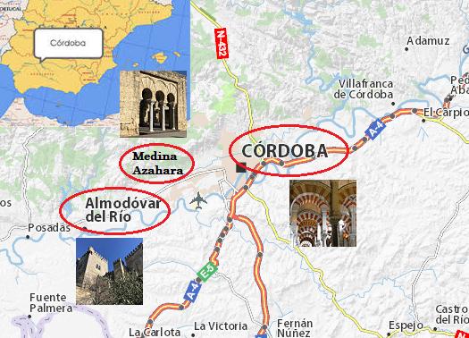 Mapa de situación de Córdoba y alrededores