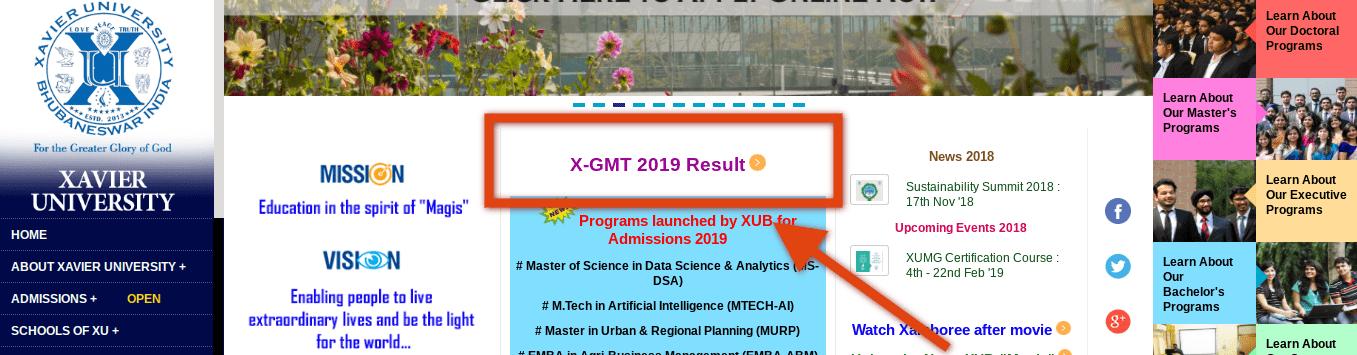 XGMT 2019 Result Announced by Xavier University; Check Scorecard at xub.edu.in