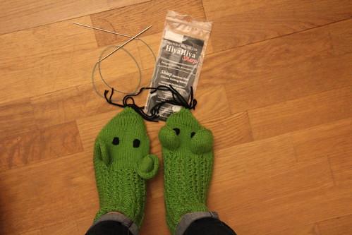 Chaussettes au tricot