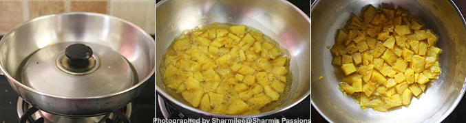 How to make Pineapple Puliserry - Step2