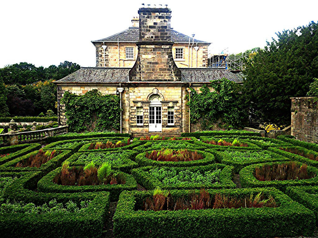 Parterre Garden at Pollok House, Glasgow, Scotland.