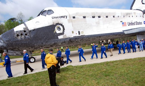 Former Discovery commanders parade with the shuttle | by HeatherMG