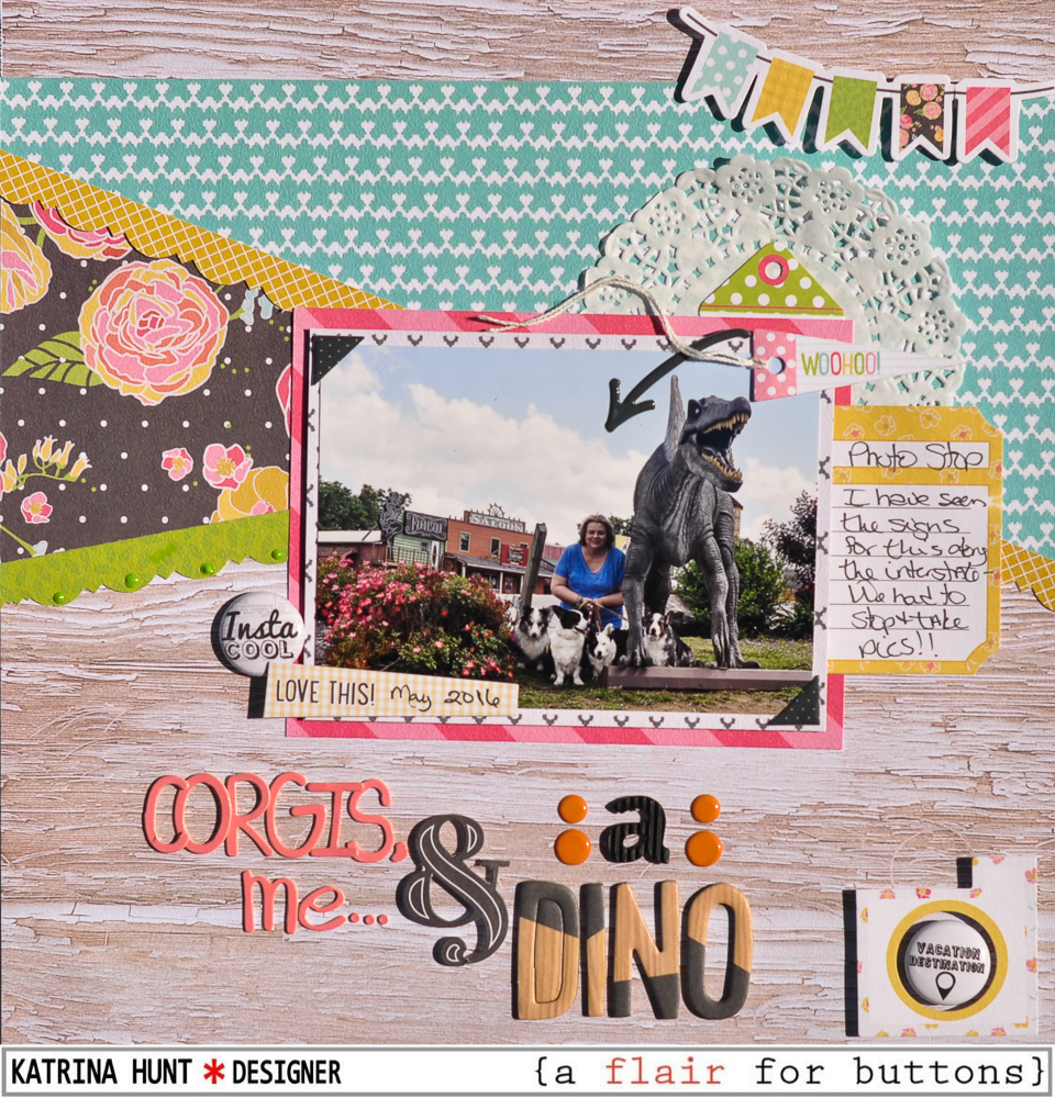 Corgis_Me_Dino_Scrapbook_Layout_A_Flair_For_Buttons_Fancy_Pants_Katrina_Hunt_1000Signed-1