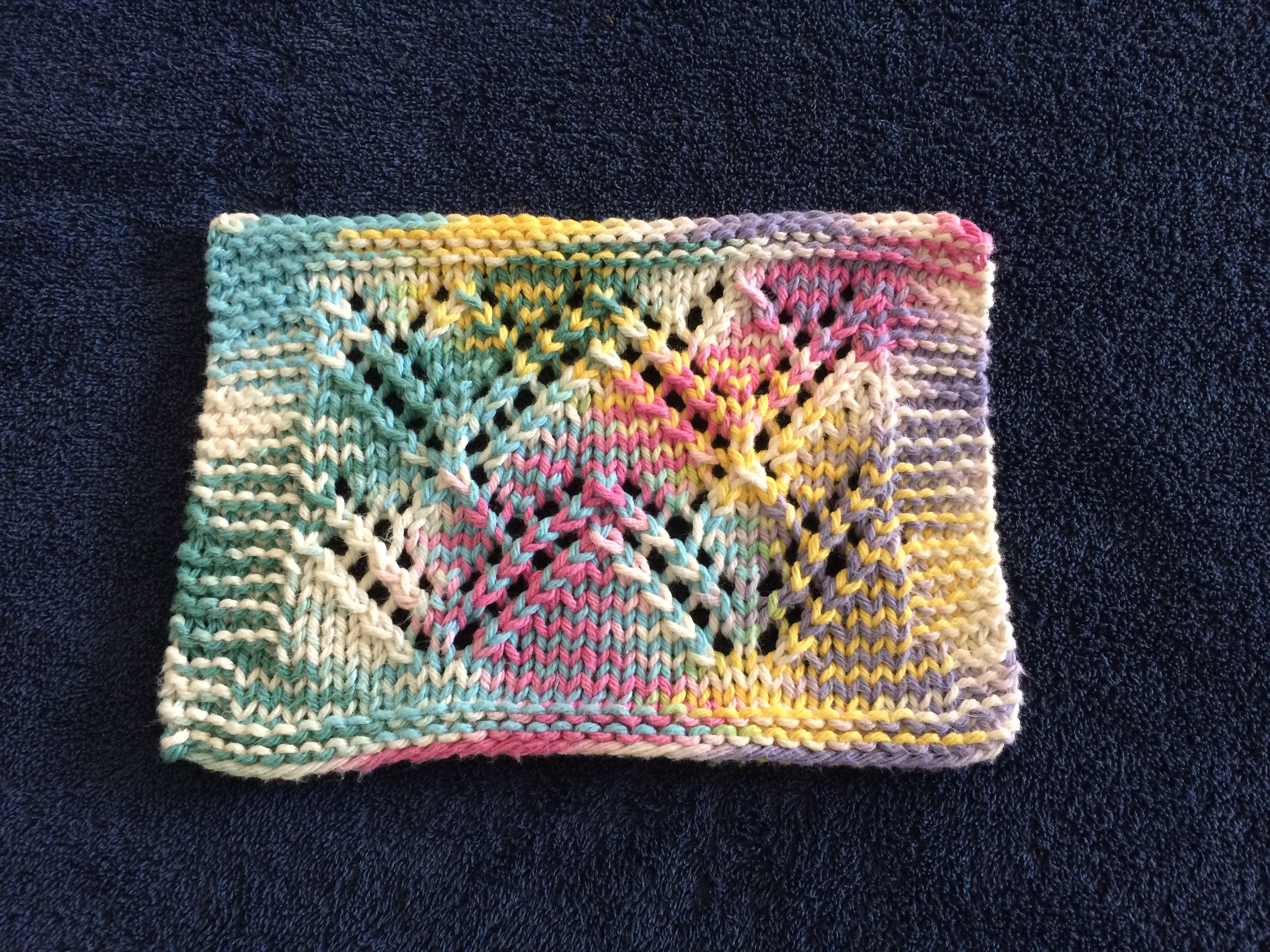 Summer Breeze dishcloth for Ravellenics Games August 2016