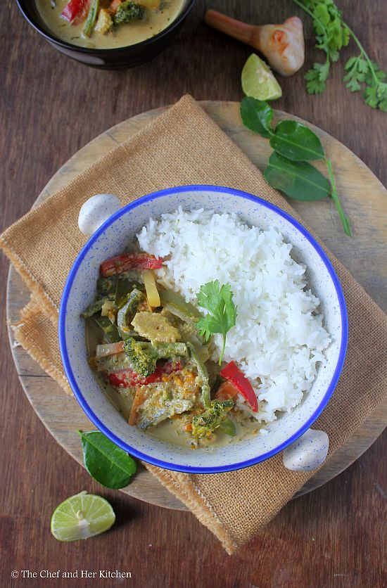 veg thai green curry