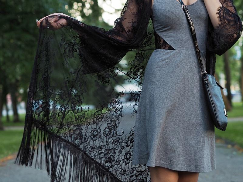 lace kimono bikbok
