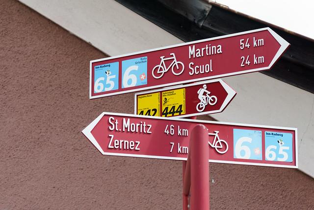 schweizer Radwegschilder