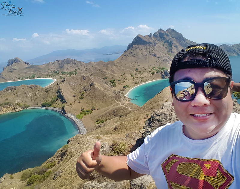 padar island hill top selfie
