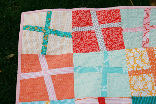 Baby Modern Cross Quilt | by Fresh Lemons : Faith