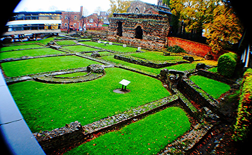 Roman Baths at Leicester, England