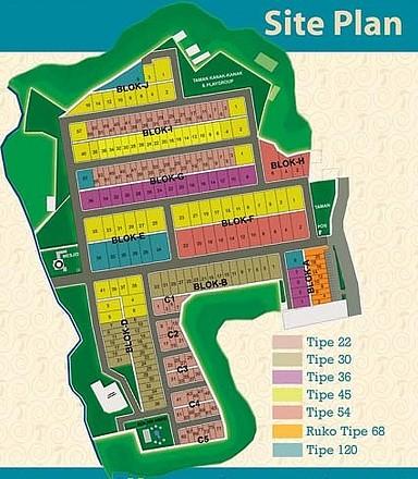 Siteplan Perumahan Villa Pasirwangi Perumahan Villa