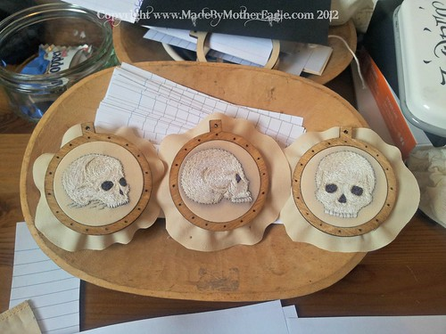 3 skulls ready to be made into pendants | by MotherEagle