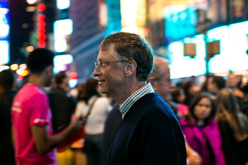 Bill Gates, Times Square | by Tom Starkweather