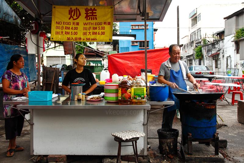 Pudu Fried radish Cake Stall Wai Sek Kai
