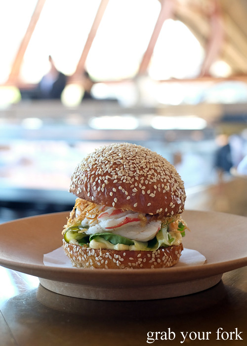 Hot lobster bun at Bennelong Restaurant Sydney