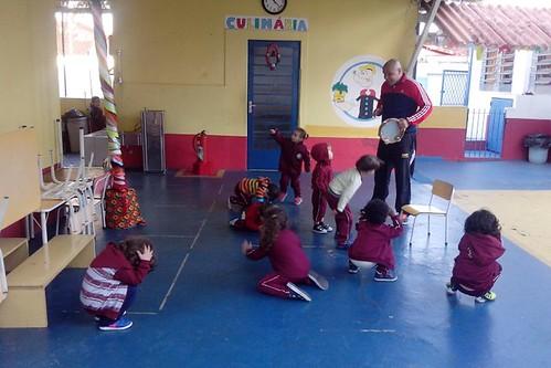 Maternal na aula de Capoeira