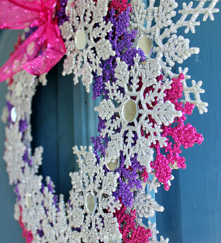 Glitter Snowflake Wreath | by hi sugarplum!