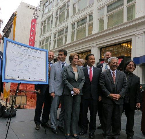 Congresswoman Pelosi Signs The Full Funding Grant Agreemen