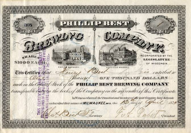 phillip-best-brewing-company-became-pabst-brewing-company-signed-by-fred-pabst-as-president-milwaukee-wisconsin-1874-12