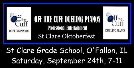 Off The Cuff Dueling Pianos 9-24-16