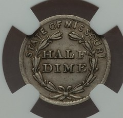 Nichilson's Half Dime token reverse