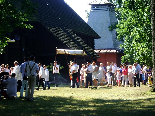 procesja w kościele w Budzynku