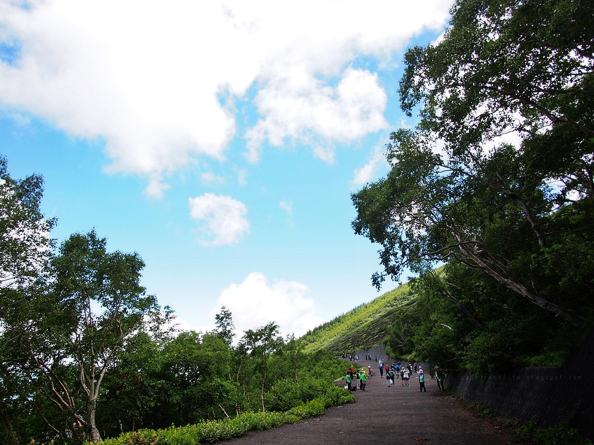 富士山五合目往六合目