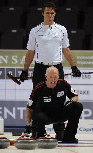 Penticton B.C.Jan13_2013.World Financial Group Continental Cup of Curling.Team North America skip Glenn Howard,Team World skip Thomas Ulsrud.CCA/michael burns photo | by seasonofchampions