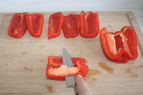 12 - Paprika entkernen / Decore bell pepper