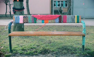 Urban Knitting Project in Floridsdorf, 1210 Vienna | by B-Anne-B
