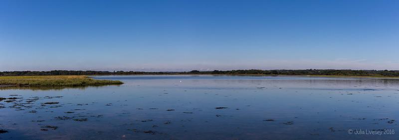 Panorama across Lychett Bay