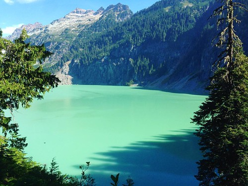Look at where Josh hiked to today without me--Blanca Lake! I've wanted to go for ages but it's too arduous for my pregnant body. 😭