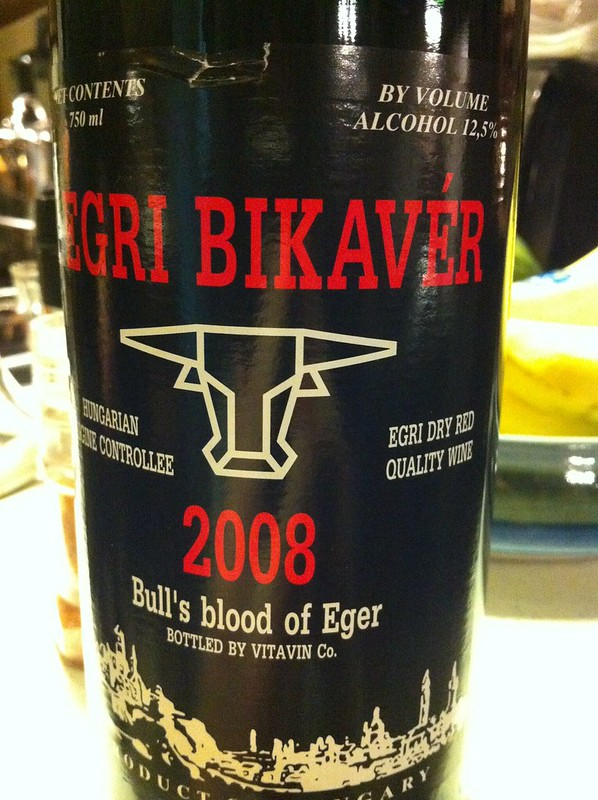Egri Bikavér. Love the new label.