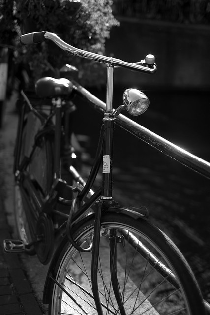 Bike at canal in Amsterdam 27