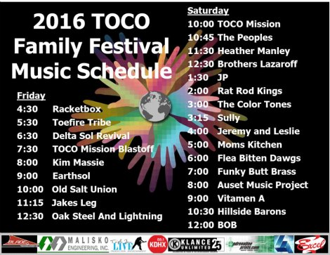 TOCO schedule