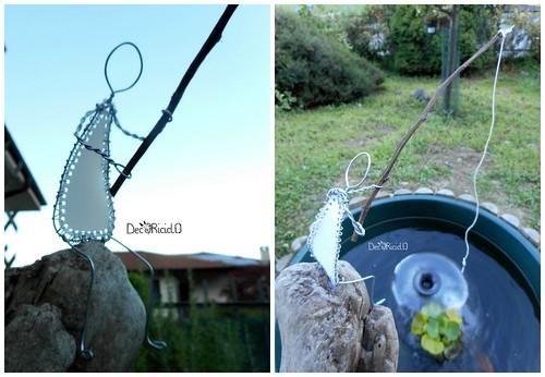 9. pescatore i fil di ferro e plastica