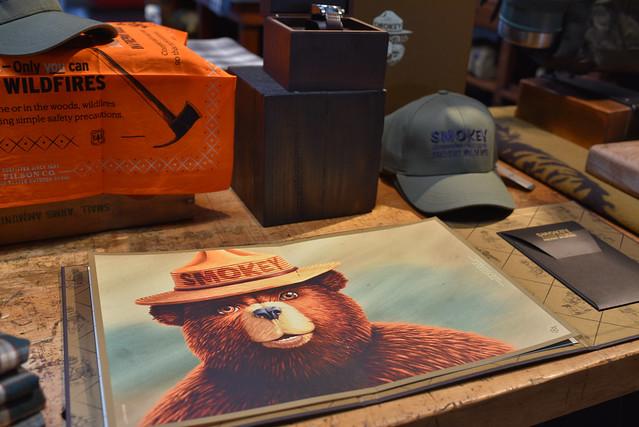 """Smokey the Bear says """"Celebrate your favorite outdoorsman!"""""""