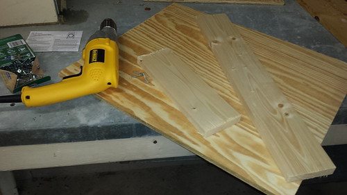 Plywood, 1x4s, and a drill