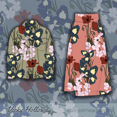Creative Brief 1: Honest Meadowland. Wildflower Pattern - Skirt and Jacket
