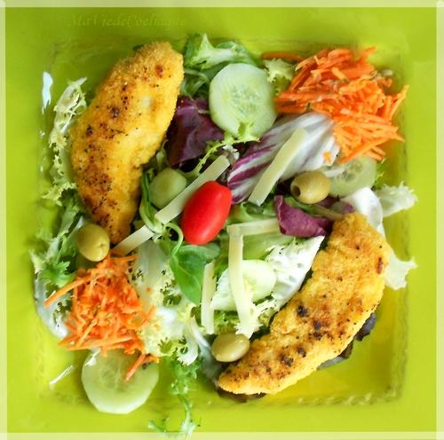 Salade de poulet pané sans gluten