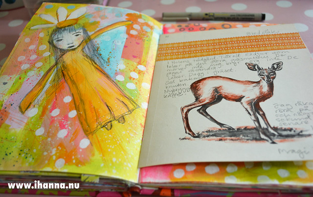 Art Journaling can be fantasy and saving cute illustrations made by iHanna