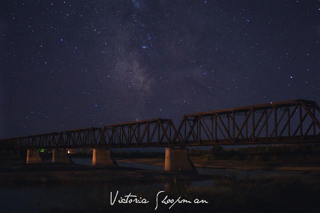 Glendive Montana Black Bridge Milky Way