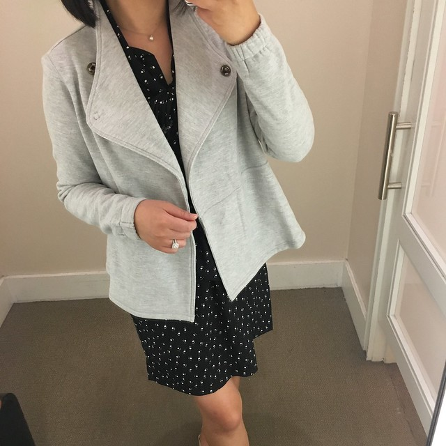 Lou & Grey Crossover Terry Moto Jacket, size XS