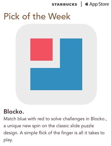 Starbucks iTunes Pick of the Week - Blocko.