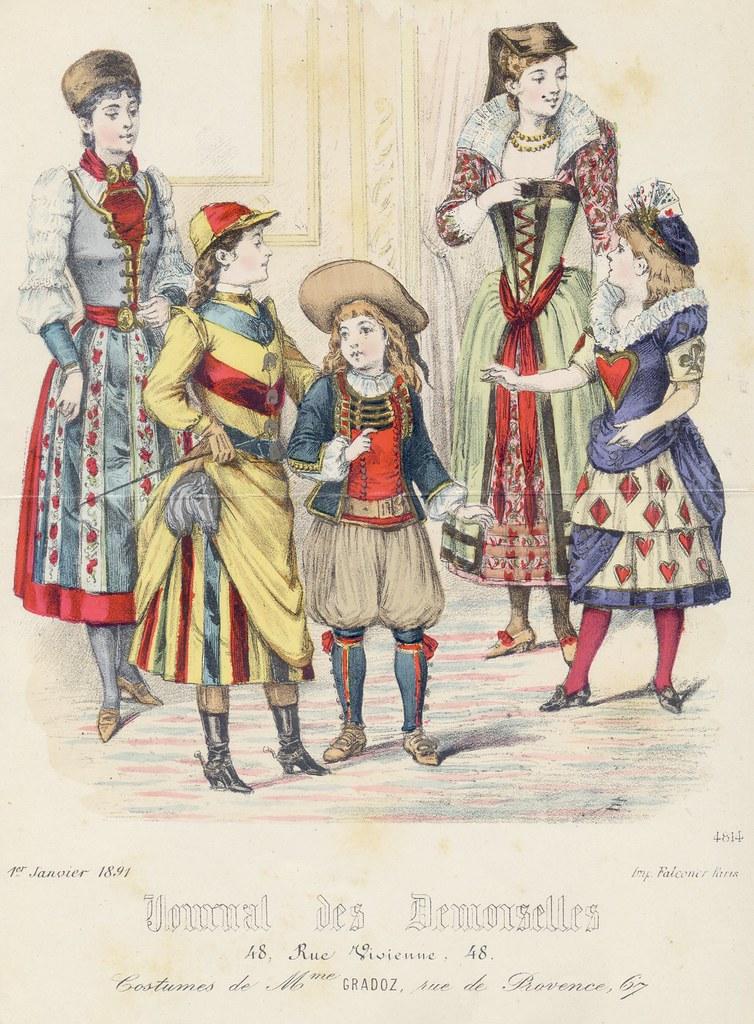 Janvier 1891, déguisements d'enfants