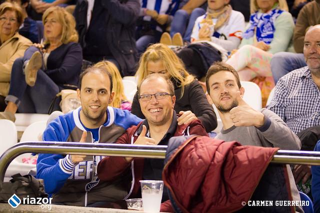 La afición en el Dëpor - Sporting de Gijón