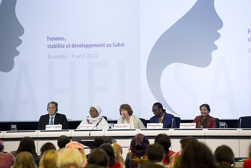 Panel members react to comments from participants the Conference on Women's Leadership in the Sahel | by UN Women Gallery